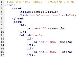 暗号のような文字列がHTMLだ